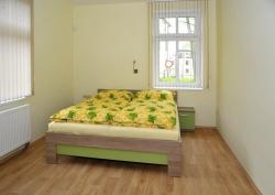 Ložnice v Zeleném apartmánu